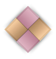 business four squares pink vector image vector image