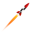 The launch of a white background vector image