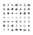 set of web icons isolated vector image
