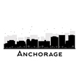 Anchorage silhouette vector image