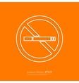 Stock Linear icon no smoking vector image
