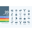 Set of South Korea icons vector image