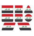buttons with flag of Iraq vector image