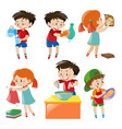 children doing different things vector image