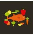 delicious sea food fish restaurant vector image