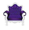 Luxury Violet Chair vector image