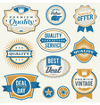 Retro vintage retail labels vector image
