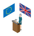 brexit in the united kingdom vector image
