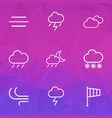 meteorology outlines set collection of windsock vector image