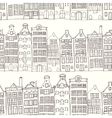 Seamless amsterdam holland background vector image