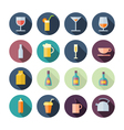 Flat Design Icons For Drinks vector image vector image