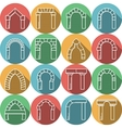 Set of colored flat icons for archway vector image