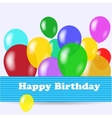 Birthday background vector image vector image