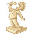 golden statuette of the best singer vector image