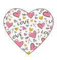 Heart shape texture vector image