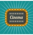 Retro Cinema banner vector image