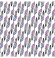 seamless ethnic pattern with hand drawn feathers vector image