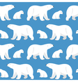 seamless pattern with two polar bears she-bear and vector image