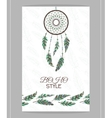 Vintage card Boho style Two flyers decorated vector image