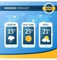 Weather Forecast Background vector image