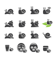 snail icon set vector image vector image
