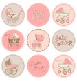 Baby Girl Shower Party Set vector image
