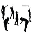 woman in Reaching pose vector image