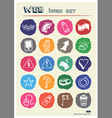 Internet and media icons set drawn by chalk vector image vector image