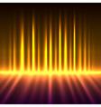 Abstract fire colored aurora borealis vector image