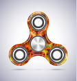spinner orange mosaic design with metal vector image vector image