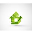 Abstract geometric company logo home house vector image