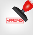 Rubber stamp with approved vector image