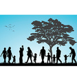 Families in the park vector image