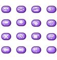 web icons a purple vector image vector image