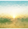 poligonal background of seascape vector image vector image