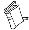 black and white book vector image