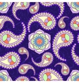 Bright seamless paisley pattern vector image