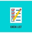 Chek list icon vector image