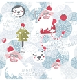Christmas background with cute Santa Claus vector image