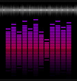 eq bar equalizer colorful scale with reflection vector image