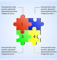 modern puzzle infographics template with four vector image