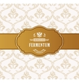 Oval golden frame Luxury packing in art vector image