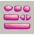 Pink buttons vector image
