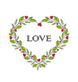 romantic heart decoration vector image