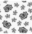 Seamless pattern made from black and white roses vector image