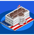Election Infographic White House Us Isometric vector image