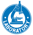laboratory label vector image vector image