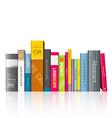 Row of colorful books vector image