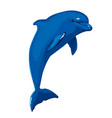 blue dolphin jumping vector image