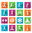 Sport and fitness colorful icons vector image